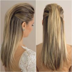 Haircuts For Straight Hair - My list of women's hairstyles Sleek Hairstyles, Vintage Hairstyles, Down Hairstyles, Straight Hairstyles, Wedding Hairstyles, Braided Hairstyles, Wedding Hair And Makeup, Hair Makeup, Bridal Hair Down