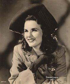 Deanna Durbin, Singer, and Film (Movie) Star - (1888-1972).  Born in Canada. Universal Studios.