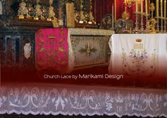 Maltese Lace altar cloth border. It took me 9 months to finish this border which is 15cm wide. For every 30cm of this border it took me 27 hours to finish.