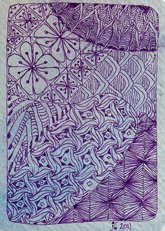 PurpleJungle by Ruby OpalTones #doodles #purple