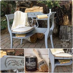 Get a gorgeous distressed Shabby Chic look with our Galvanized Furniture Paint.  Our high quality paint is made in the U.S.A, requires no prep, dries quickly, and distresses easily using sand paper or the wet cloth method.  Check it out today!