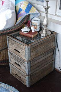 Re-purposed Wooden Milk Crates