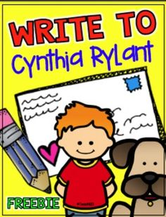 FREE Cynthia Rylant letter template and Morning Messages. Great extensions to your Henry and Mudge lessons.