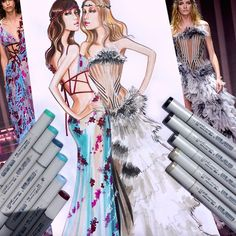 Atelier Versace Fall 2015 Couture | Illustration by Paul Keng