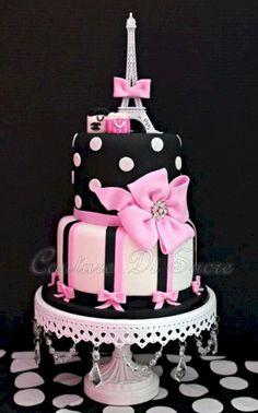 Trendy cupcakes decoration for girls pink beautiful cakes 52 ideas Paris Birthday Cakes, Paris Themed Cakes, Paris Themed Birthday Party, Paris Party, Cool Birthday Cakes, Bolo Paris, Cake Paris, Pretty Cakes, Beautiful Cakes