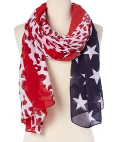 Love this Raj Imports Berry Leopard Flag Scarf by Raj Imports on #zulily! #zulilyfinds