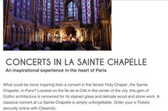 30.12.2016: New Year's Concert @ Sainte Chapelle