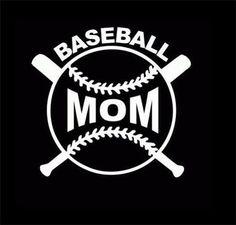 Baseball Mom Vinyl Car Computer Window by CountryHeartDesignz