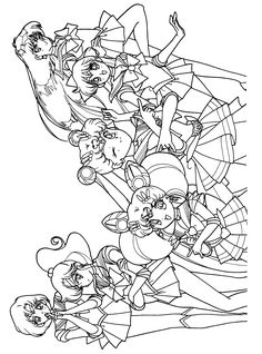 Sailormoon Coloring Pages 81 Gif 2300 3100 Alcohol Ink And