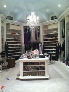 A closet with a chandelier? Why yes!