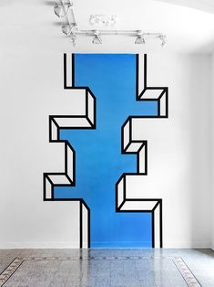 Really digging these terrific pieces of tape art from Aakash Nihalani. She takes bold pieces of black and neon tape and creates these beautiful pieces of art Tape Art, Tape Wall Art, Washi Tape Wall, Simple Wall Paintings, Simple Wall Art, 3d Wall Painting, Easy Wall, Art Paintings, Mural Art