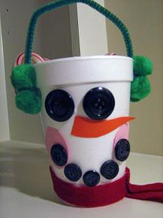 Ramblings of a Crazy Woman: Snowman Cups Christmas Crafts For Kids To Make, Kids Christmas, Holiday Crafts, Handmade Christmas, Holiday Fun, Holiday Ideas, Merry Christmas, Xmas, Daycare Crafts