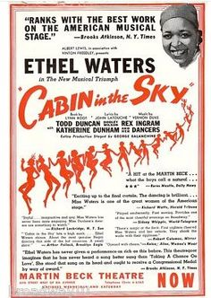 "Did you know that seventy years ago, in 1941, after 156 performances on Broadway the hit musical CABIN IN THE SKY came directly to the Royal Alex? The show starred the beautiful Ethel Waters, Dooley Wilson and Todd Duncan (the original Porgy in Porgy and Bess). Waters had a huge hit with the song ""Taking a Chance on Love"" and three years later played the role of Petunia on the big screen!"