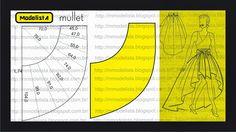 střih - sukně nepravidelná Modelagem de saia mullet Fonte: ModelistA: MULLET