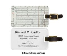 Great fun for the geek in your life, this luggage tag for the math enthusiast features a close-up scan of a vintage antique Keufel & Esser Deci-Lon logarithm slide rule showing some of the numeric scales. https://www.zazzle.com/z/3cusp&tc=20170213_pint_SSOZ #travel #accessories #StudioDalio #Zazzle