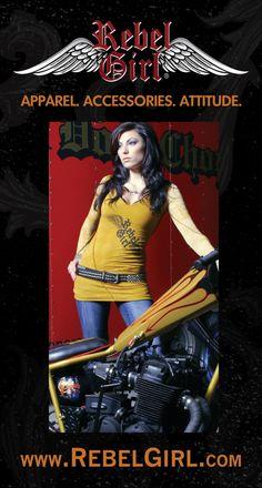 #RebelGirl ..Does this shirt match my bike? RebelGirl.com