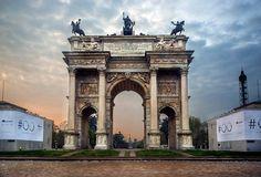 Lavori presso l'Arco della Pace di Milano | Archeoclubmilano George Washington Bridge, Around The Worlds, Italy, Travel, Rome, Italia, Viajes, Destinations, Traveling