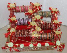 Trousseau Packing, Saree Blouse Patterns, Sewing Basics, 4th Of July Wreath, Wedding Gifts, Wedding Decorations, Bangles, Holiday Decor, Packing Ideas