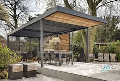 Umbris Automated Outdoor Louvre Roof, The Patio Roof System By IQ Glass  That Adjusts To