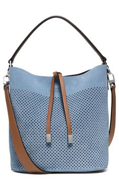 Michael Kors 'Medium Miranda' Perforated Suede Bucket Bag available at #Nordstrom