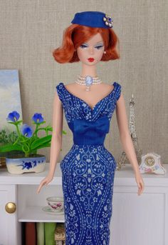 Delft Blue for Barbie & Victoire Roux by HankieChic on Etsy