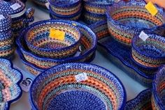 Polish pottery. I hope to have a set of different patterns some day.