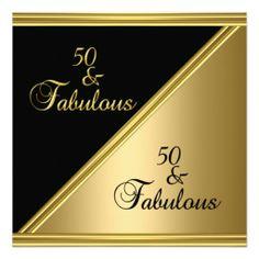 Elegant 50th birthday party themes elegant lady 50th birthday elegant 50th birthday party black gold floral invitation filmwisefo