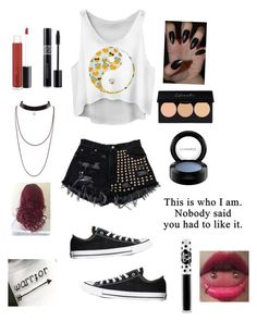 Untitled #156 by jenniferhdz on Polyvore featuring polyvore, fashion, style, Converse, MAC Cosmetics, Christian Dior, Lime Crime and clothing