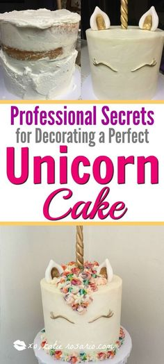 How to Make a Unicorn Cake that is cute and easy. Making a unicorn cake is so much easier than you think. With a foolproof cake and fluffy buttercream it is so simple. Add color and some fondant work and you have a perfect rainbow bright unicorn cake.