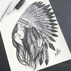 Still waiting for my Indian Queen to return. Beautiful my spirit is healing and I get stronger everyday. Native American Tattoos, Native Tattoos, Native American Art, American History, Tattoos 3d, Tattoo Drawings, Sleeve Tattoos, Tattos, Sketch Tattoo Design