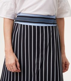 Thumbnail Image of Color Swatch 2222 Image of Petite Mixed Stripe Wrap Skirt