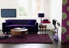 teppich kaufen lila wohnzimmer bodenvasen