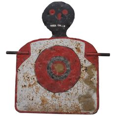 For Sale on - Graphic painted iron spinner target of large size. This handmade shooting gallery target was made from heavy diamond plate steel with welded rods on two Vintage Carnival Games, Vintage Circus Party, Scary Clown Makeup, Scary Clowns, Fibre, Fiber Art, Vintage Halloween Photos, Hot Halloween Costumes, Popular Art