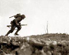American Soldier fighting at the Battle of Okinawa