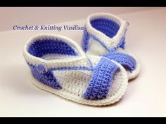 DIY baby booties crochet - YouTube