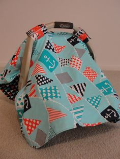 Crafty Chelsea: Car Seat Cover...this is the best tutorial I have found. makes it very easy. now I just need a sewing machine