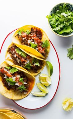 "Guisada-style tacos–the so-called ""king of tacos"" in Mexico–are filled with slow-cooked stewed meat laced with guajillo and chipotle chiles, garlic, onion, Negra Modelo, smoky cumin and oregano."