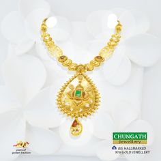 Make every auspicious occasion more memorable with this #Necklace from Chungath Jewellery www.chungathjewellery.com