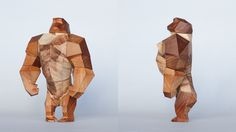 Low-Poly Animals: The Simian on Behance