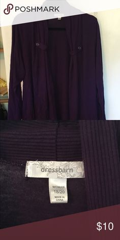 Dress Barn purple cardigan Size 18/20 Dress Barn purple knitted cardigan with button detail. Dress Barn Sweaters Cardigans