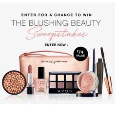 Enter the Blushing Beauty Sweepstakes at www.deannasbeautyonline.com. #avon #sweepstakes #entertowin