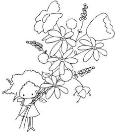 Stamping Bella Unmounted Rubber Stamp-Paisley Pixie