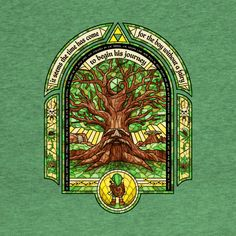 The Great Deku Tree - The Legend Of Zelda - T-Shirt   TeePublic Legend Of Zelda Timeline, Saga Zelda, Midna Cosplay, Legend Of Zelda Tattoos, Deku Tree, Gamer Tattoos, Evil Demons, Pixel Art Templates, Brand Icon