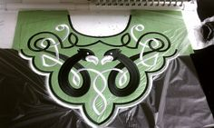 Newest Celtic embroidery for an Irish dance school.  Digitized by Taoknitter Arts, embroidery stitch out by Colleen Murphy. #embroidery, machine embroidery, irish dance