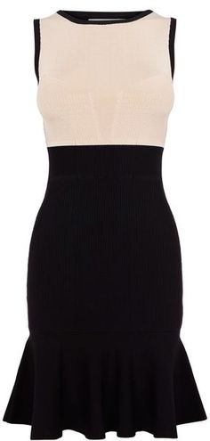 KAREN MILLEN ENGLAND  Colourblock Knit Dress because one day I am going to have to dress office appropriate
