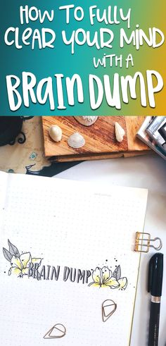 Bullet Journal Brain Dump: Learn how this incredible tool can help you organize your mind, increase productivity, and stop forgetting […] Bullet Journal Ideas Pages, Bullet Journal Layout, Bullet Journals, Brain Dump Bullet Journal, Declutter Your Mind, Brain Tricks, Brain And Heart, Clear Your Mind, Day Planners