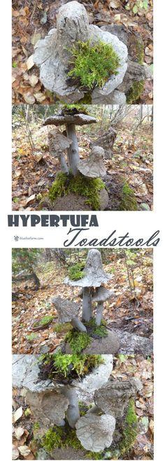Hypertufa Toadstools - not just your ordinary mushrooms... Rustic Garden Art | Hypertufa Projects