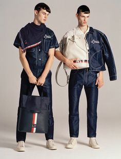 David Trulik and Kit Butler in Louis Vuitton for VMAN