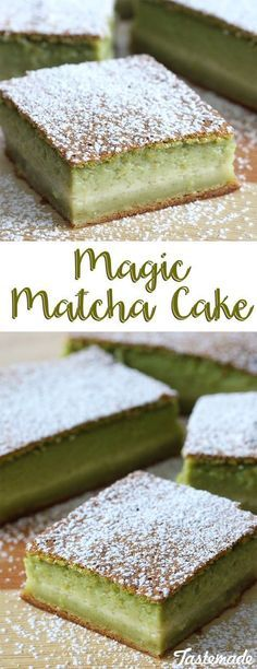 You'll be enchanted by this matcha dessert's wonderfully yummy texture and flavor.