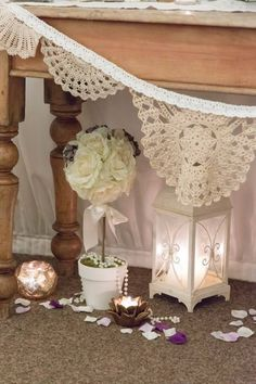 All Decor and Styling provided by Crow Hill Weddings. Fresh Flowers provided by Roxanne at Lily Blossom. Fresh Flowers, Crow, Entryway Tables, Lily, Pearls, Weddings, Elegant, Vintage, Furniture